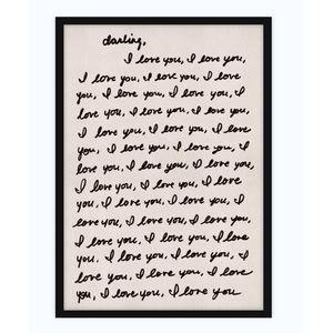 Darling I love you framed art 30x42 for jbains16